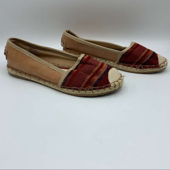 I.D. Required Baja Striped Espadrilles Size 7